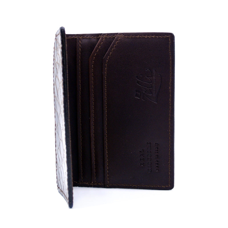 O-81-500-CGN CROCODILE Card Case, Cognac
