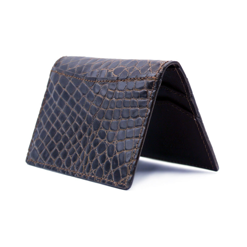 O-81-500-NIC CROCODILE Card Case, Nicotine