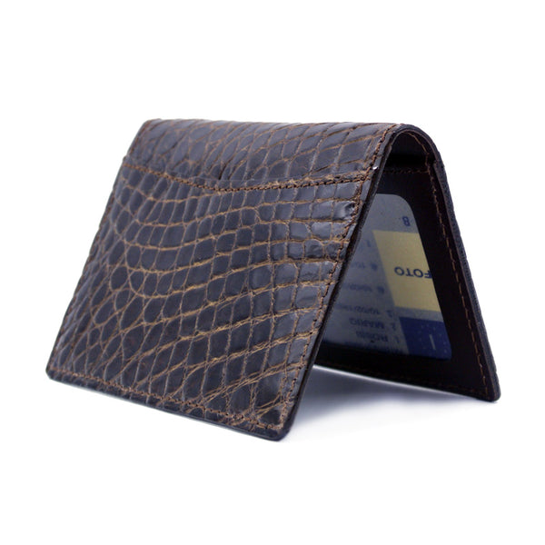 CROCODILE Card Case, Nicotine