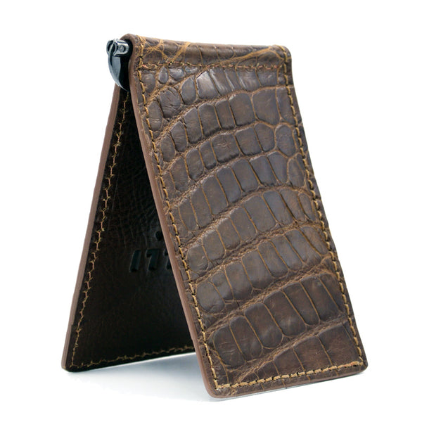 81-530-CGN ALLIGATOR Money Clip Cognac