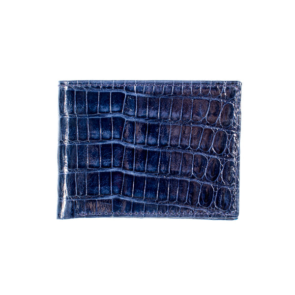 CROCODILE Bi-Fold Wallet Navy