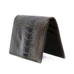 Ostrich Leg Card Case, Dark Brown