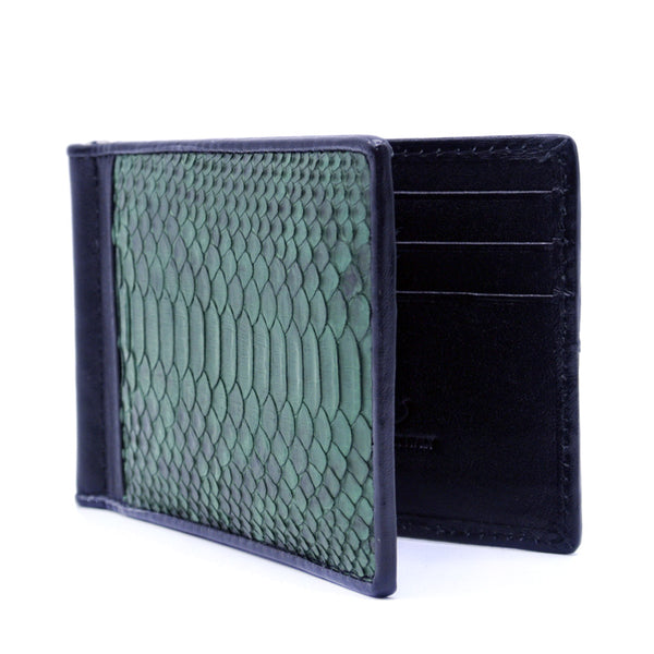 0556GR Python Money Clip, Deep Green