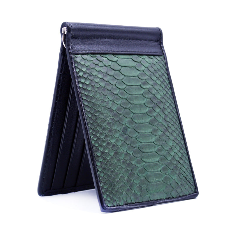 Ostrich Money Clip, Deep Green
