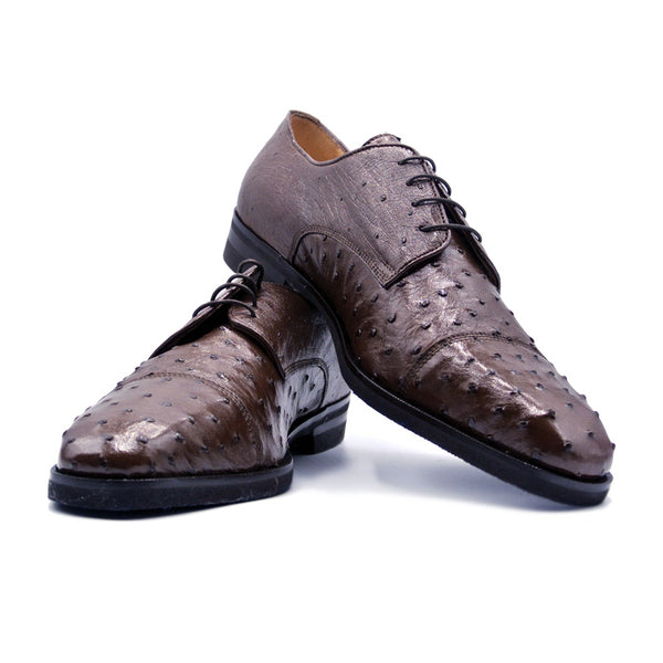 SMPL-CD-002 Ostrich Quill Captoe Derby