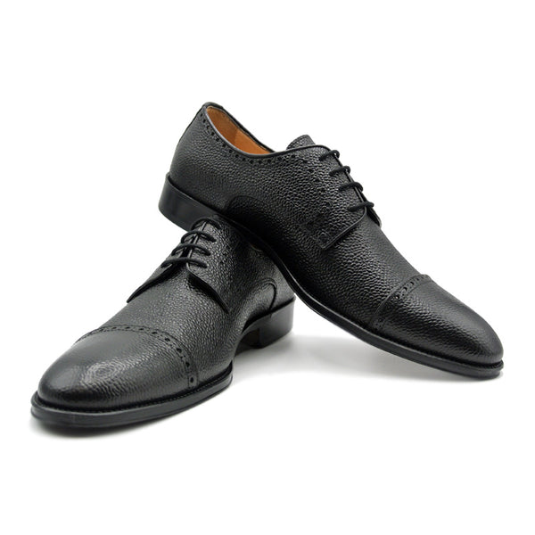 SMPL-CD-010 Pebblegrain Calfskin Captoe Derby