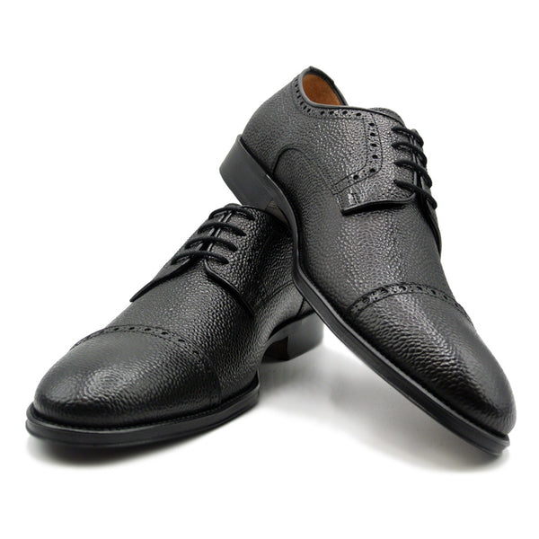 SMPL-CD-011 Pebblegrain Calfskin Captoe Derby