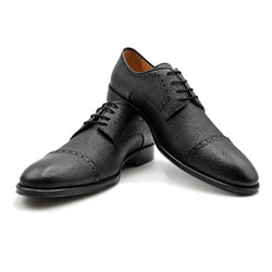 SMPL-CD-012 Pebblegrain Calfskin Captoe Derby