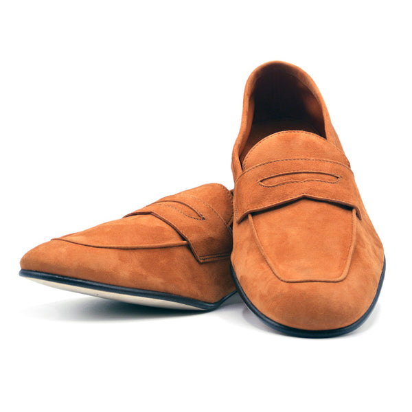 Sueded Calfskin Penny Loafer