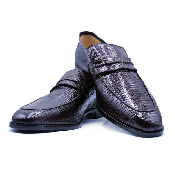 SMPL-PL-016 Lizard Penny Loafer