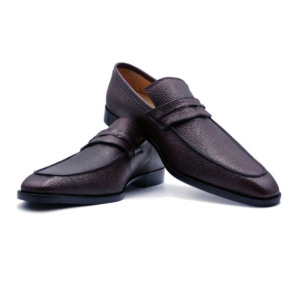 SMPL-PL-029 Pebble Grain Penny Loafer