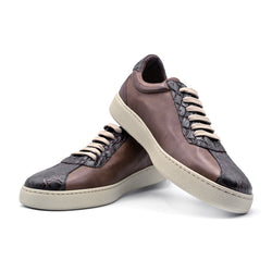SMPL-SK-006 Calfskin with Crocodile Sneaker