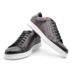 SMPL-SK-020 Calfskin with Crocodile Sneaker