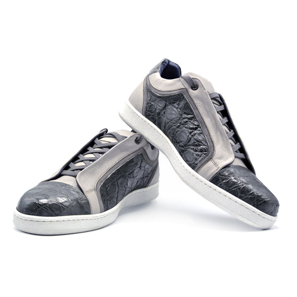 SMPL-SK-022 Crocodile with Calfskin Sneaker
