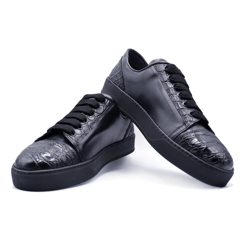 SMPL-SK-023 Calfskin with Crocodile Sneaker