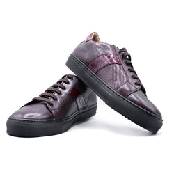 SMPL-SK-027 Calfskin with Crocodile Sneaker