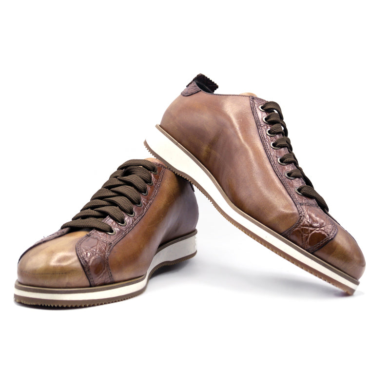 SMPL-SK-028 Calfskin with Crocodile Sneaker