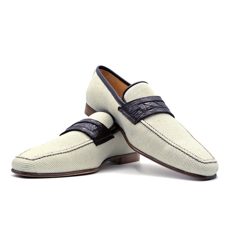 Woven Twill On Loafer