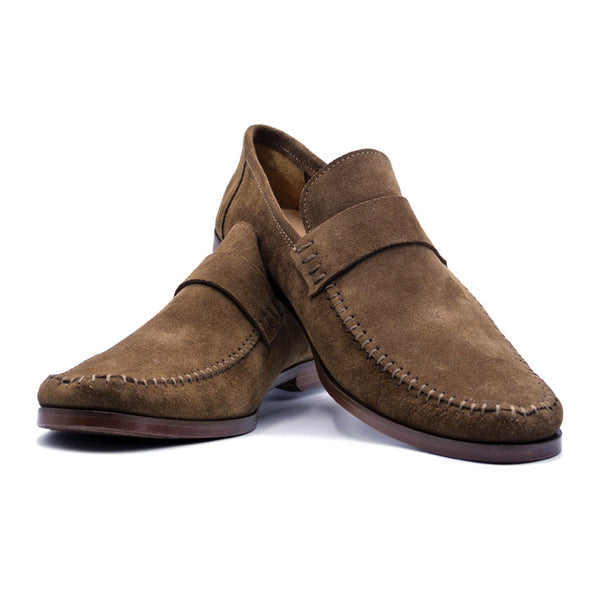 SMPL-SL-018 Sueded Calfskin Slip On Loafer