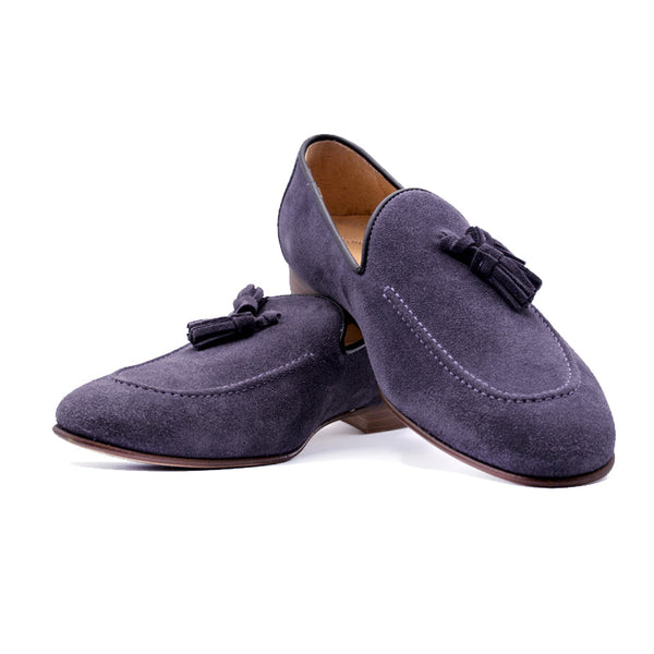 SMPL-TL-009 Sueded Calfskin Tassel Loafer