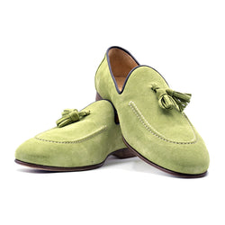 Sueded Calfskin Tassel Loafer