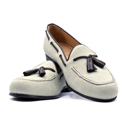 SMPL-TL-017 Canvas Twill Tassel Loafer