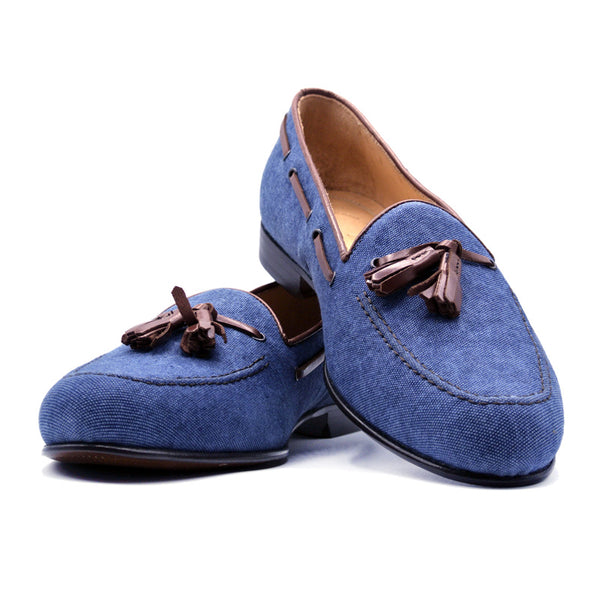 SMPL-TL-018 Denim Twill Tassel Loafer