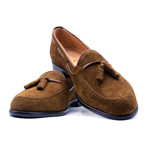 SMPL-TL-019 Sueded Calfskin Tassel Loafer