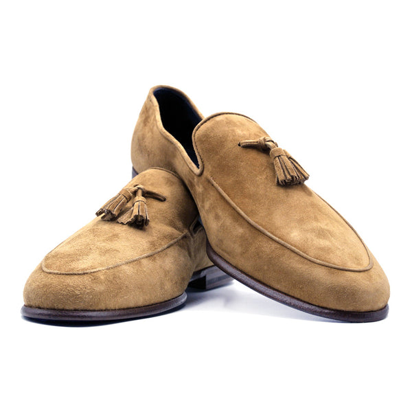 SMPL-TL-020 Sueded Calfskin Tassel Loafer