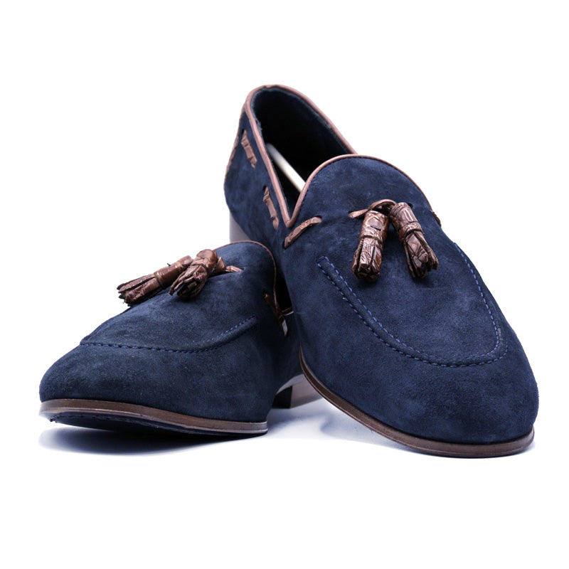 SMPL-TL-025 Sueded Calfskin Tassel Loafer