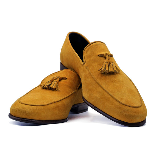 SMPL-TL-026 Sueded Calfskin Tassel Loafer