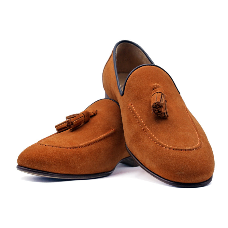 SMPL-TL-027 Sueded Calfskin Tassel Loafer