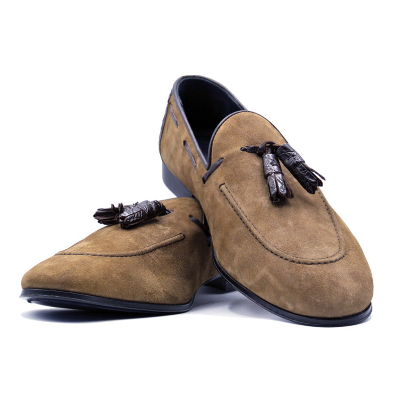 SMPL-TL-028 Sueded Calfskin Tassel Loafer