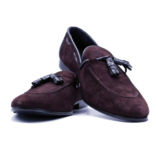 SMPL-TL-031 Sueded Calfskin Tassel Loafer