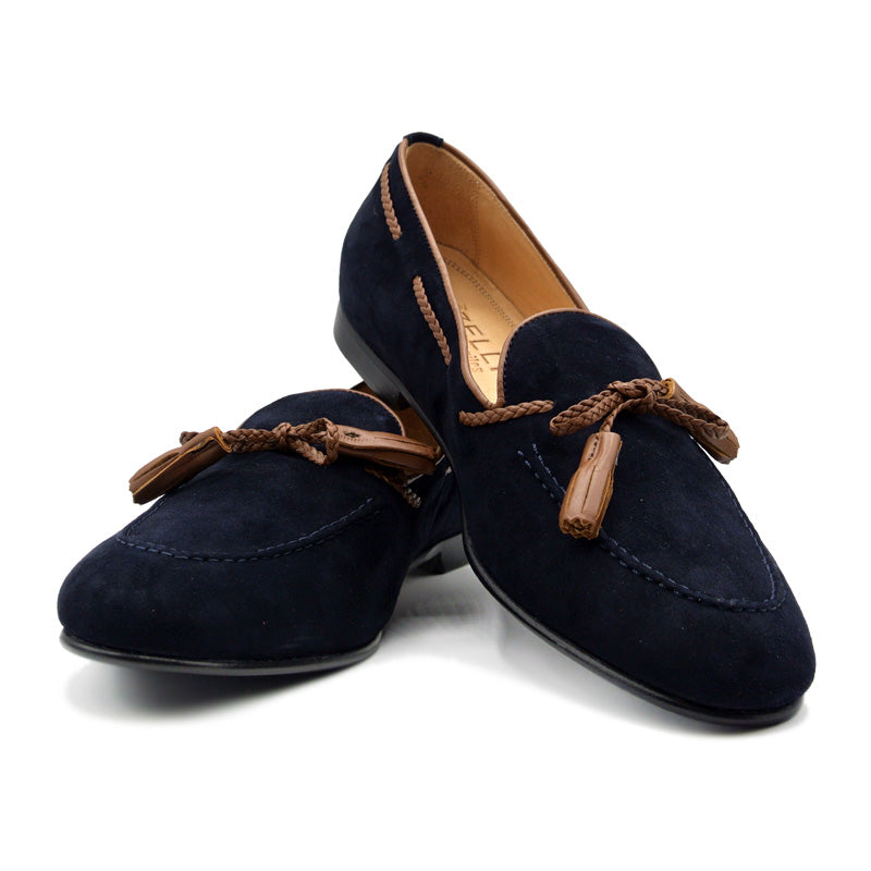 SMPL-TL-036 Sueded Calfskin Tassel Loafer