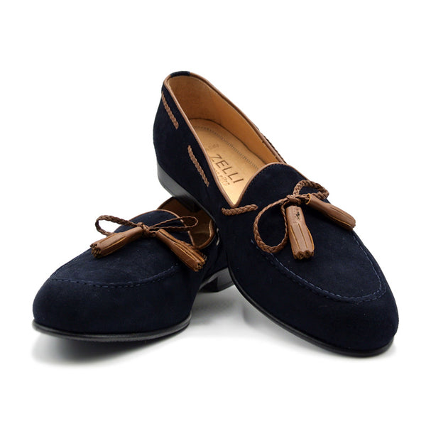 SMPL-TL-037 Sueded Calfskin Tassel Loafer