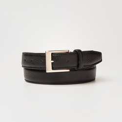 PEBBLE GRAIN BELT  Black