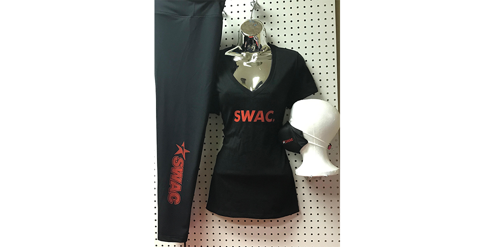 SWAC Leggings, V-Neck and Mask Ensemble