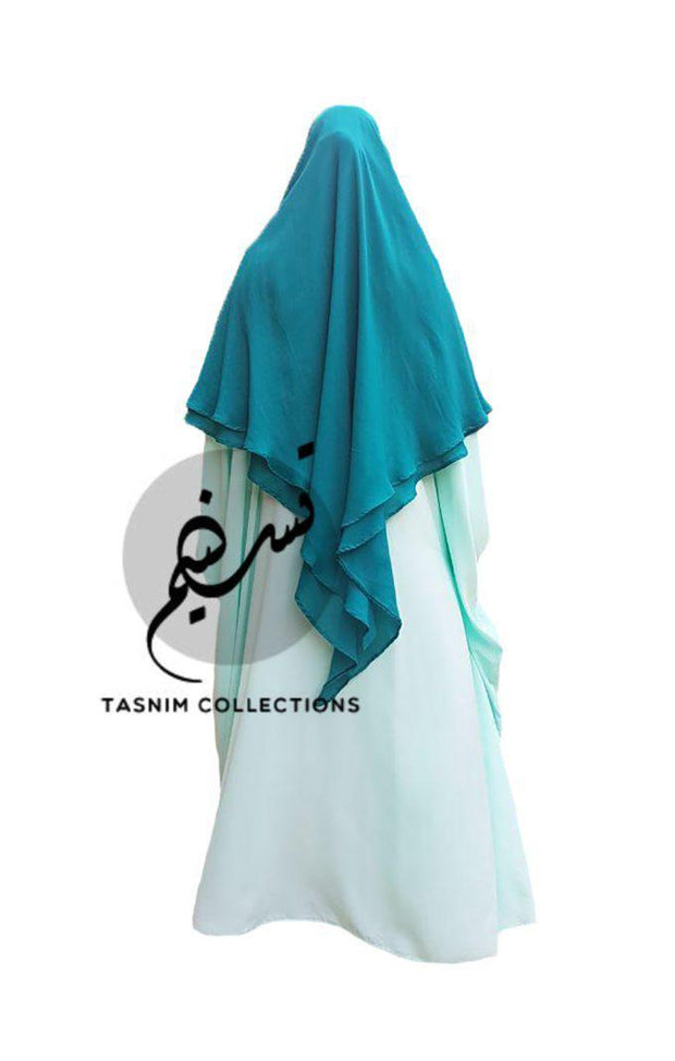 Large Two Layer Chiffon Khimar Amirah