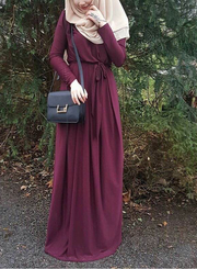Bordeaux Draped Maxi Dress