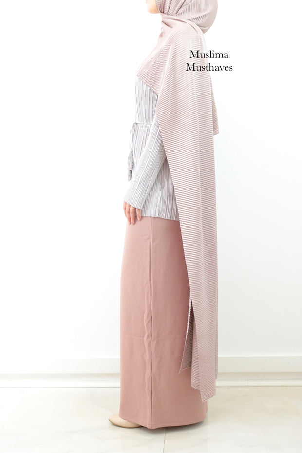 DustyPink Maxi Pencil Skirt