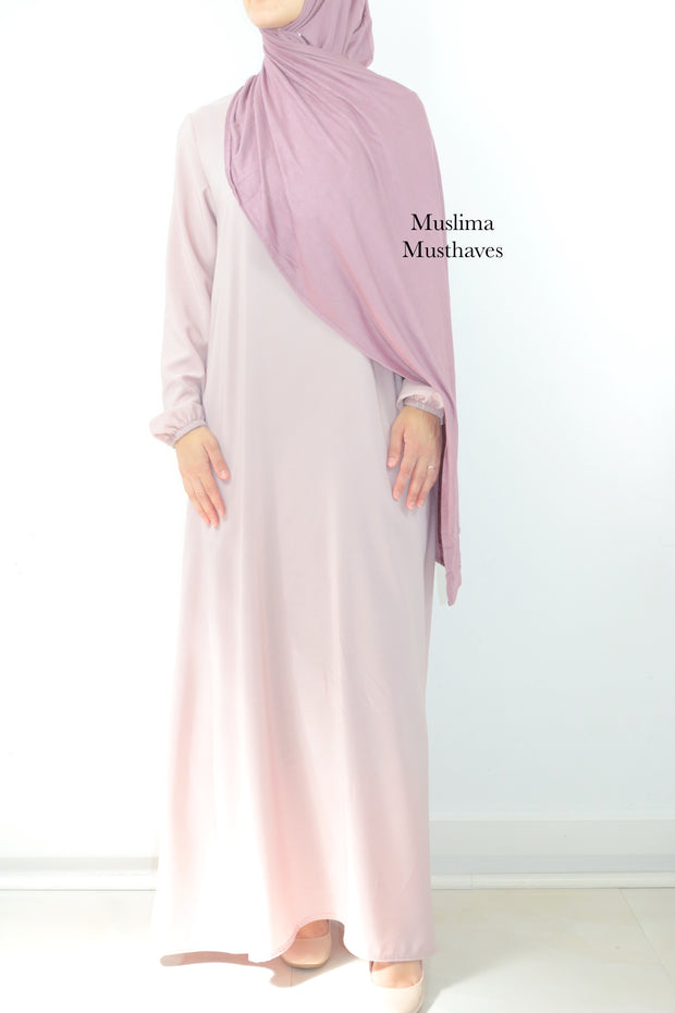 Blush Budget Zipper Abaya