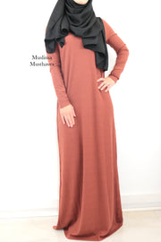 Terracotta Basic Dress