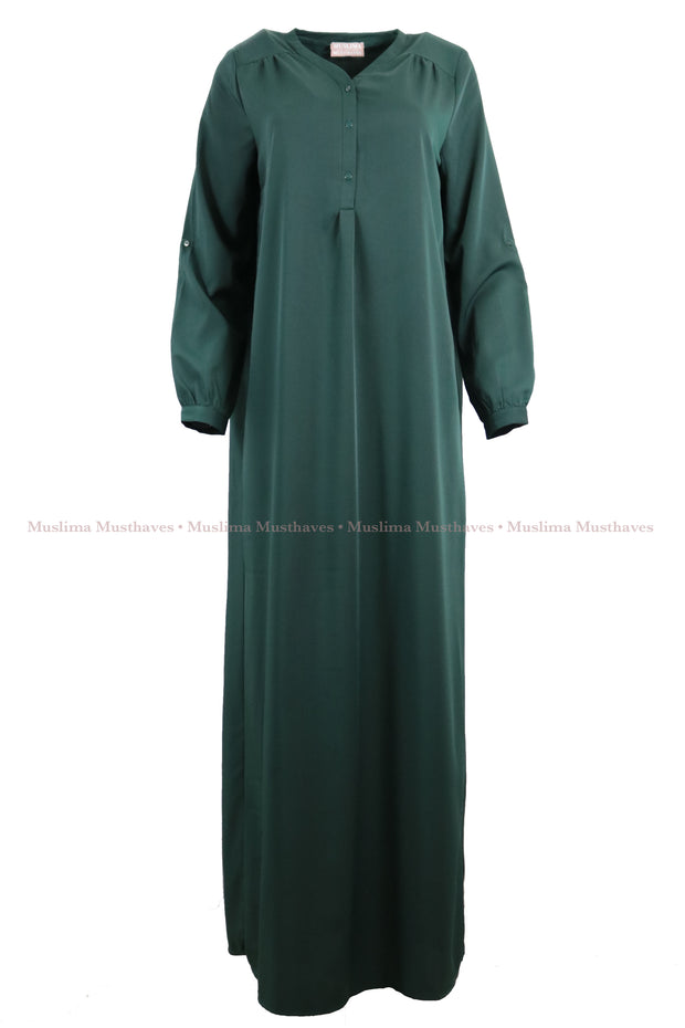 DarkGreen Blouse Abaya