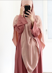 Blush Tria Stretch Khimar
