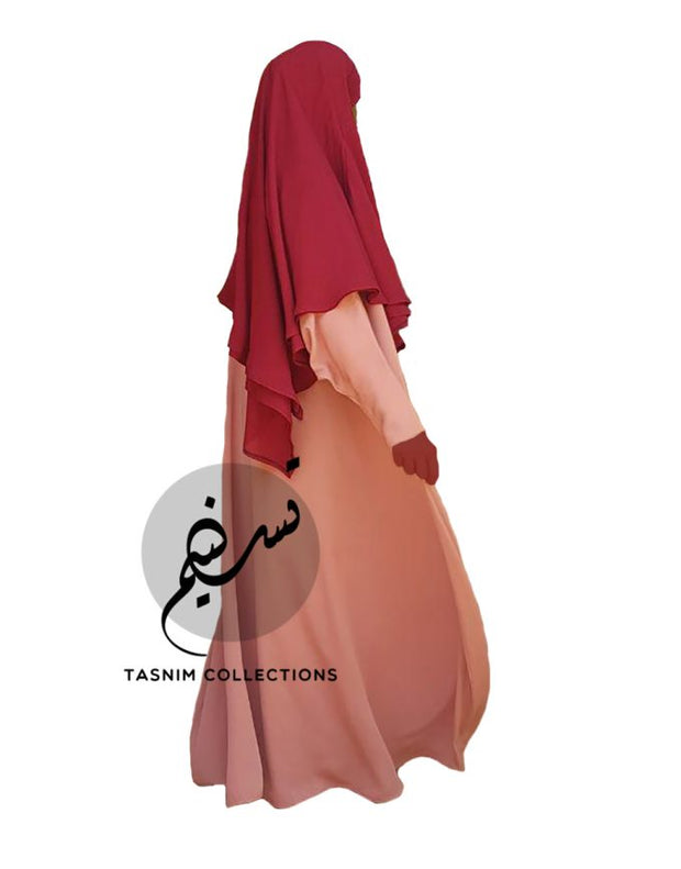 Medium Two Layer Chiffon Khimar Amirah