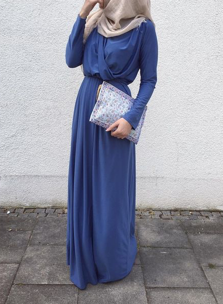 Jeansblue Draped Maxi Dress