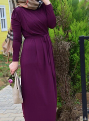 Plum Draped Maxi Dress