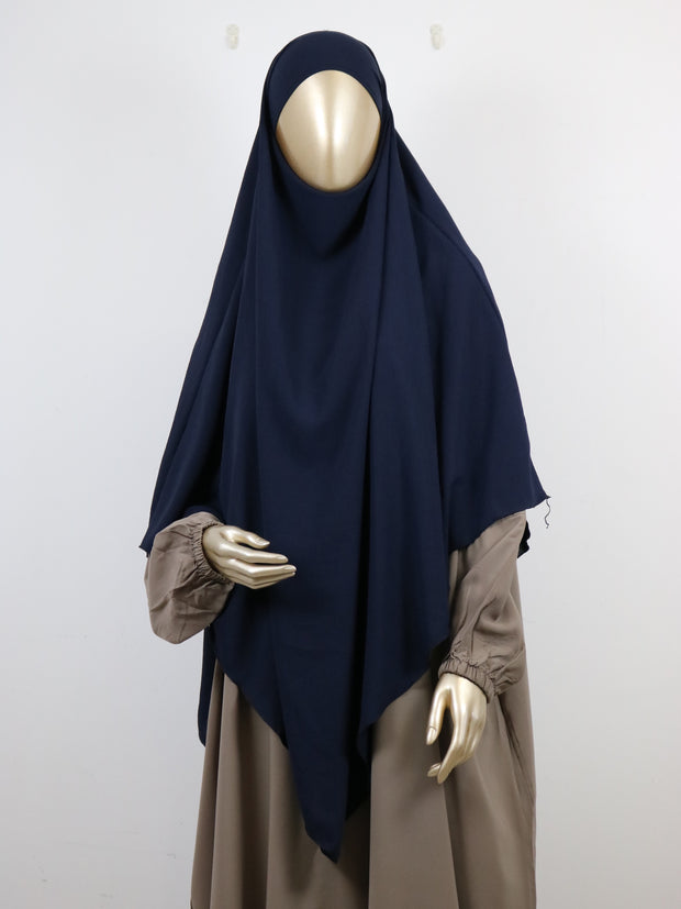 Navy Stretch Tria Khimar