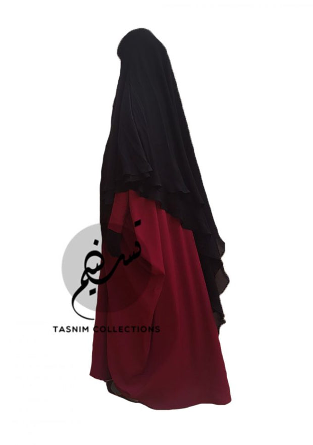 XLarge Two Layer Chiffon Khimar Amirah